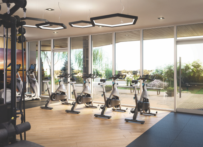 Dockside's state-of-the-art fitness facility allows residents to prioritize healthy living through all four seasons.
