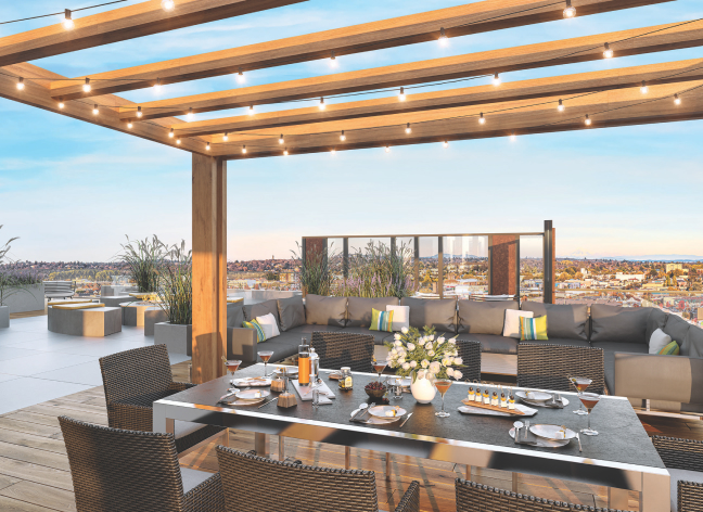 The rooftop lounge gives residents a new view on Victoria and Vic West.